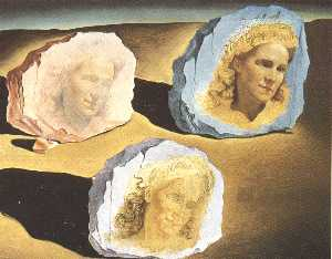 Three Apparitions of the Visage of Gala, 1945