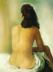 Gala Nude From Behind Looking in an Invisible Mirror, 1960