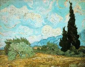 Wheat Field with Cypresses [1889]