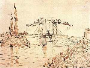 Drawbridge with Lady with Parasol