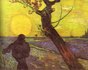 Sower with Setting Sun (After Millet)