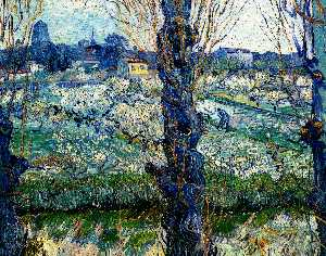 View of Arles. Orchard in Bloom with Poplars in the Forefront