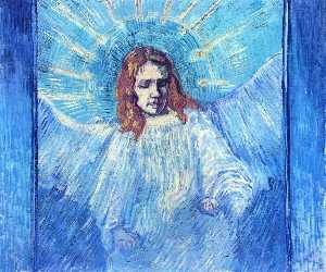 Half-Figure of an Angel (after Rembrandt)