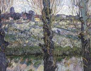 Orchard in Blossom with View of Arles