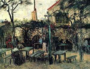 Terrace of a Cafe on Montmartre ''La Guinguette''