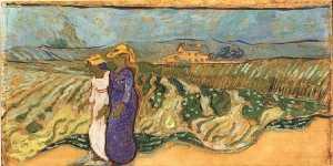 Two Women Crossing the Fields
