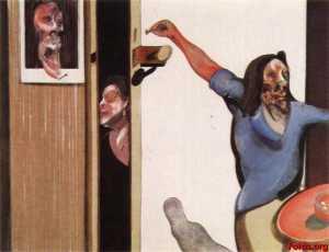 three studies of isabel rawsthorne, on single canvas, 1967