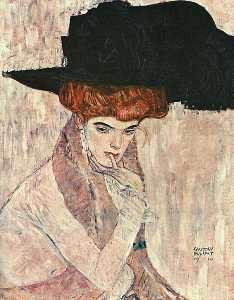 Black Feather Hat(Lady with a Feather Hat), The