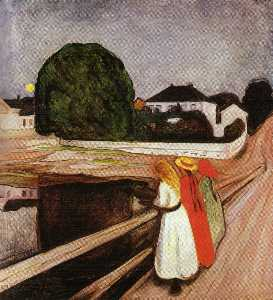 Three girls on the bridge