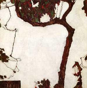 Autumn Tree with Fuchsias