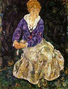 Portrait of the Artist , Wife , Seated 1918