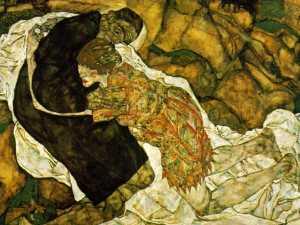 schiele smierc i dziewczyna (autoportret z walli) 1915
