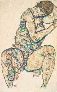 Seated Woman with Her Left Hand in Her Hair