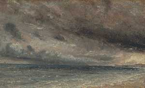 The Coast at Brighton - Stormy Evening
