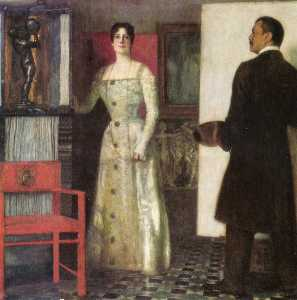 Franz and wife in studio