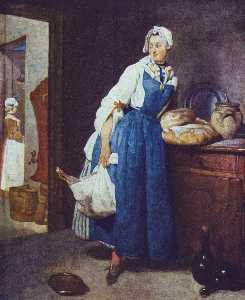 Servant Returning from the Market (La Pourvoyeuse)