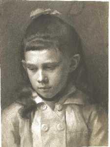 Brustbild eines kleinen Mädchen