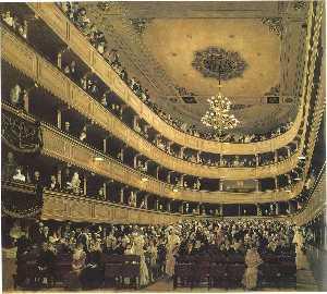 Auditoriumin the Old Burgtheater, Vienna