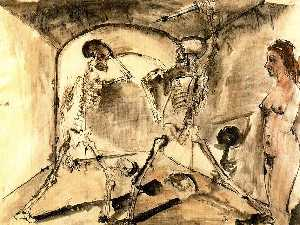 The skeletons duel
