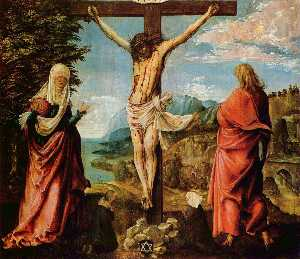 Crucifixionscene,Christon the Cross withMary and John