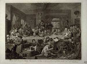 An Election Entertainment, plate one from Four Prints of an Election