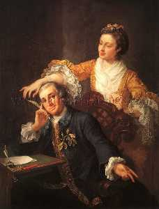 David Garrick with His Wife Eva-Maria Veigel La Violette