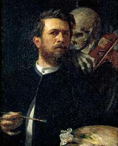 Autorretrato con la muerte tocando el violín