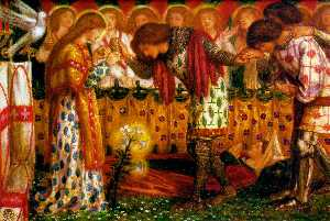How Sir Galahad, Sir Bors and Sir Percival Were Fed with the Sanc Grael; But Sir Percival's Sister Died By the Way