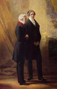 Arthur Wellesley, 1st Duke of Wellington with Sir Robert Peel