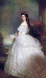 Portrait of Elizabeth of Bavaria, Empress of Austria