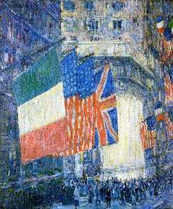 Avenue of the Allies (aka Flags on the Waldorf)