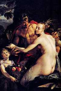 Baco , Ceres y cupido