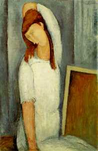 Portrait of Jeanne Hebuterne, Left Arm Behind Her Head
