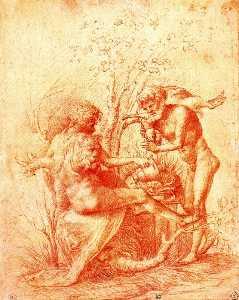 Molorchus sacrifica una víctima de Hércules en Nemea