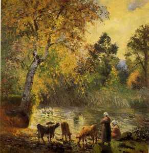 Herbst , Montfoucault See