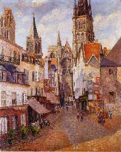 Sunlight, Afternoon, La Rue de l'Epicerie, Rouen