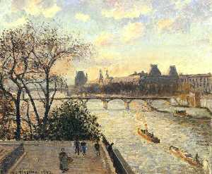 The Louvre and the Seine from the Pont Neuf