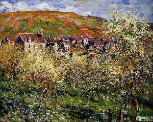 Plum Trees in Blossom at Vetheuil