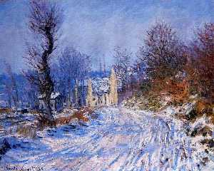 Road to Giverny in Winter