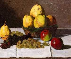 Still Life with Pears and Grapes 1