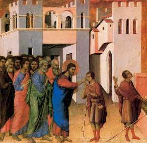 Gesù si apre gli occhi di un L uomo nato cieco