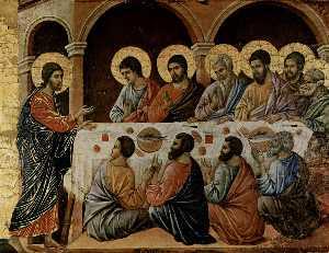 La Maestà . Aparición it la cena de los apóstoles