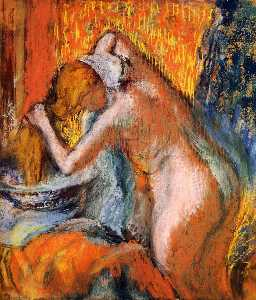 After the Bath, Woman Drying Her Hair