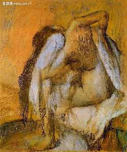 After the Bath, Woman Drying Herself 1