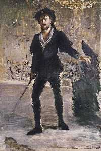 Portrait of Faure as Hamlet