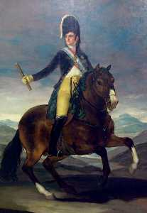 Fernando VII on horseback