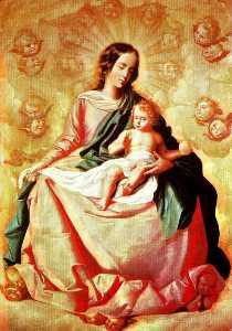 Ла Virgen y эль Нино ан лас nubes