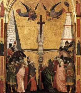Il Trittico Stefaneschi martirio  di  Pietro