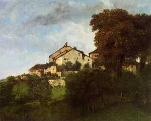Die Häuser des Chateau D Ornans