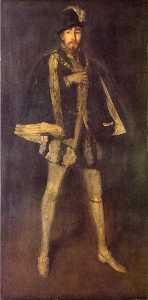 Arrangement in Black, No. 3. Sir Henry Irving as Philip II of Spain
